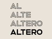 ALTERO - FREE CLEAN SOLID & OUTLINE SANS SERIF