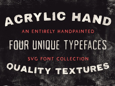 ACRYLIC HAND THICK - FREE STRONG & BOLD SVG FONT