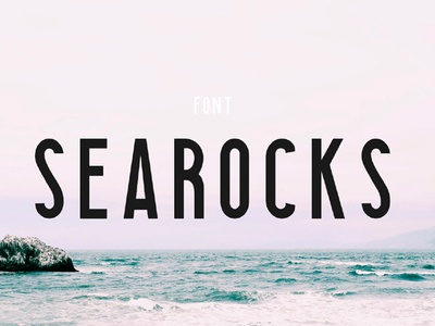 SEAROCKS - FREE CLEAN CONDENSED FONT all-caps condensed decorative display font design typeface type sans serif free sans free font free