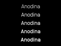 ANODINA - FREE SYMMETRIC FONT