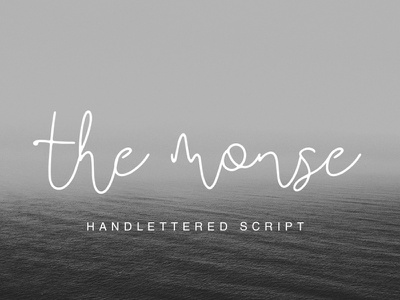THE MONSE - FREE HANDMADE CALLIGRAPHY FONT calligraphy handmade decorative display font design typeface type modern script free script free font free