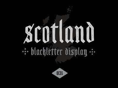 Scotland - Free Blackletter Display Font blackletter grunge branding decorative texture font free typeface fonts type design vintage logo display font typeface freebie free free font