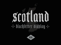Scotland - Free Blackletter Display Font