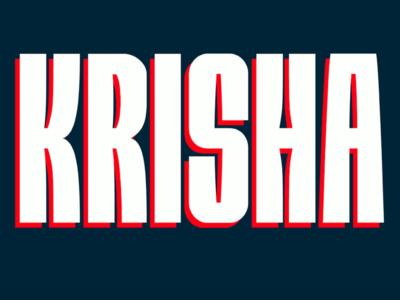 KRISHA - FREE BIG & BOLD DISPLAY FONT modern free typeface branding sans serif design display font type typeface freebie free font free