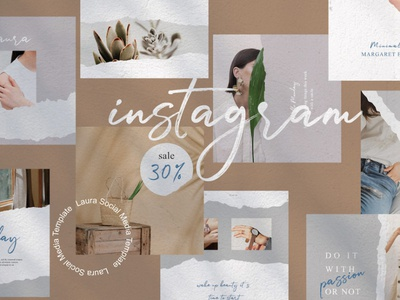Laura - Free Instagram Post Templates free psd blog business promotion marketing ig instagram freebie template free