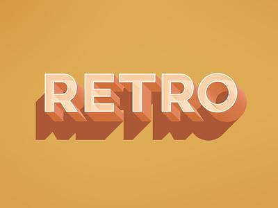 Free Retro Text Effect apparel print poster smart logo psd template text effect retro photoshop psd freebie vintage free