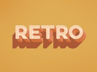 Free Retro Text Effect