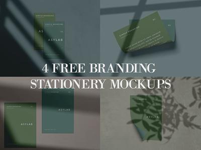 4 Free Branding Stationery Mockups mockup template mockup design photoshop psd mockup psd mockup psd shadow modern rendy stationery mockup freebie free