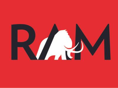 RAM Logo vector illustration illustration animal logo animal mammoth elephant branding logotype logo logo design