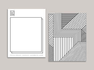 Lindsey Kugler Personal Branding line drawing black and white minimalist design logo letterhead brand identity design branding personal branding lindsey kugler personal branding