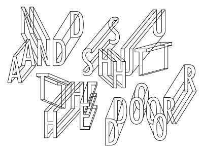 LCD Soundsystem Lyrics illustration futura lyrics line art black and white type typography