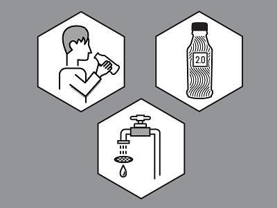 Soylent 2.0 Icons branding line art black and white illustration soylent 2.0 soylent iconography icons