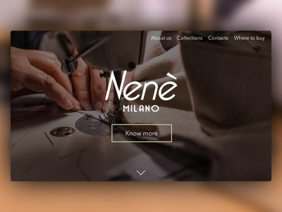 Nenè Milano Website landing page redesign website italy made in italy milano fashion