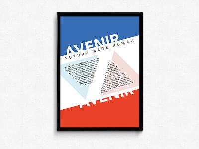 Avenir Poster bauhaus print avenir futura typography typographic font poster