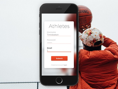 Daily UI #001 daily athlete basketball form sign up ui challenge dailyui