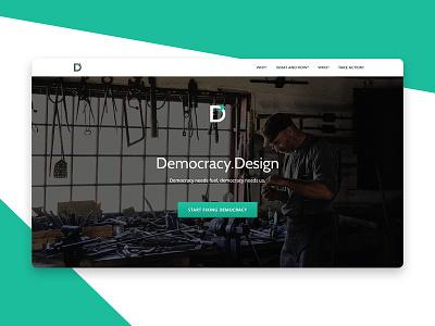 Democracy.Design workshop design thinking elections web ui landing page design democracy