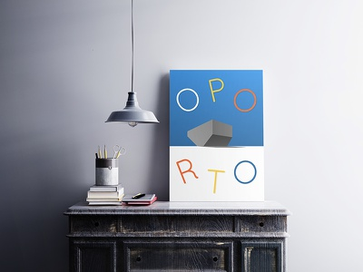 Oporto Poster #1 theatre typography show us your type poster portugal architecture porto oporto casa da musica