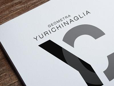 Yuri Chinaglia personal brand name initials surveyor designer design freelancer logo