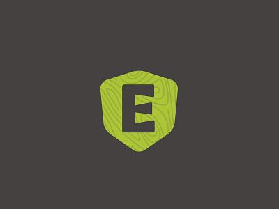 Epsky Woodworking Mark woodgrain dovetail woodworking wood shield e icon branding mark