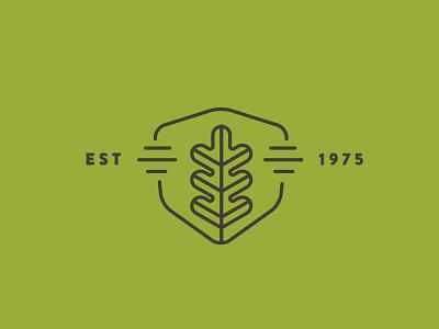 Epsky Woodworking Icon shield badge mono leaf illustration branding brand mark icon
