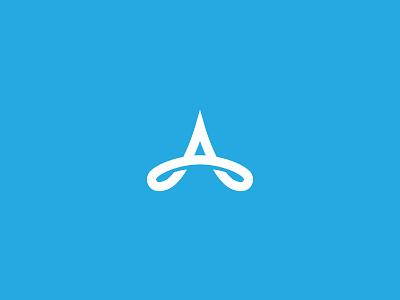 Unused up upward crown branding brand a loop infinite arrow mark logo