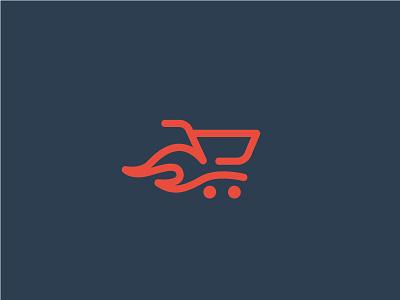 Speedy Ecommerce brand speed fast flame logo mark branding shopping shop cart ecom ecommerce