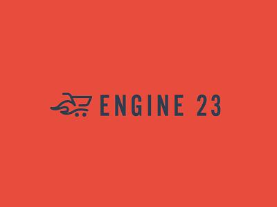 Engine 23 - Ecom Development brand speed fast flame logo mark branding shopping shop cart ecom ecommerce