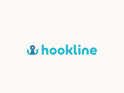Hookline Logo Rd 2 type identity branding mark logo brand startup app hookline keyhole key hook