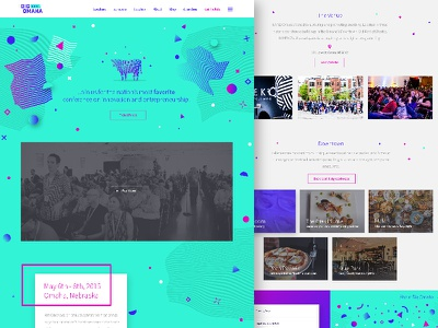 Big Omaha Conference Site cow illustration responsive digital website conference omaha abstract ux ui web
