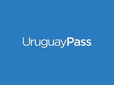 UruguayPass logo gotham typography branding logotype logo