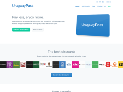 UruguayPass home page responsive layout css html homepage page home