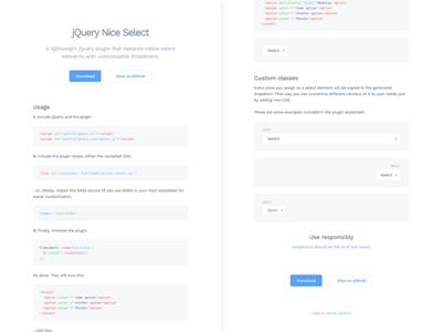 Plugin page documentation select dropdown jquery plugin landing page