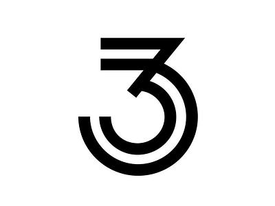 Ladies' Night 3 single-stroke type design 3 numerals typography