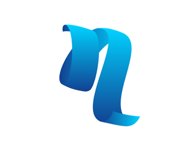 n initial gradient design application concept logo n