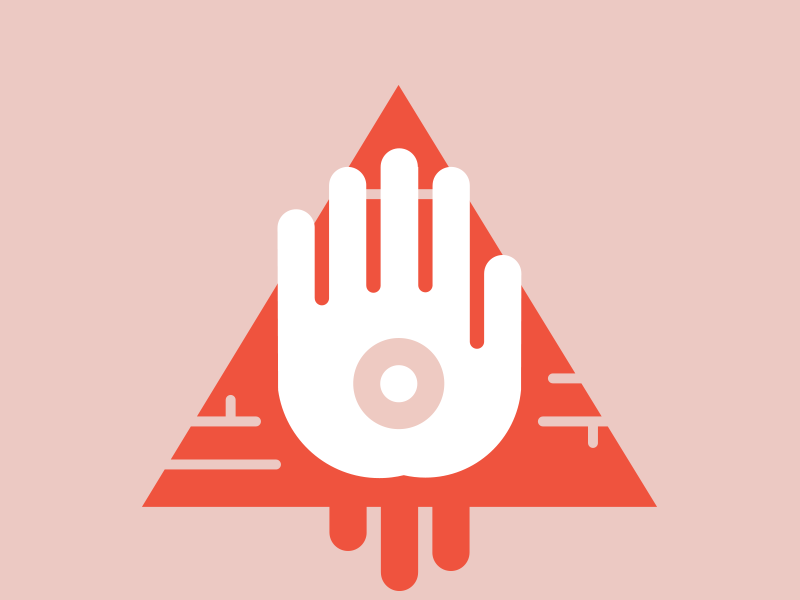 Illumi-nip illustration pyramid hand nipple vector ladies night