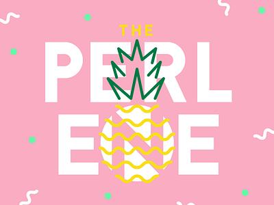 Rejected Perlene Logo dots crown pineapple design coworking space women single-stroke illustration logo
