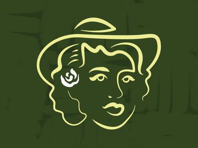 Perlene logo design woman photoshop illustrator illustration