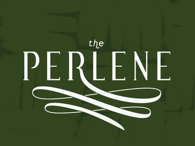 Perlene Type feminine workspace logo design woman photoshop illustrator illustration