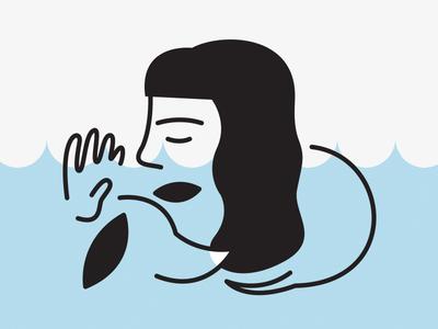Jordan & Moose hand icon logo single-stroke shhh puppy dachshund person illustration vector illustrator
