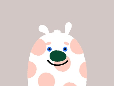 Meet Pookie minimal sketch vector illustration dots bear creature experiments