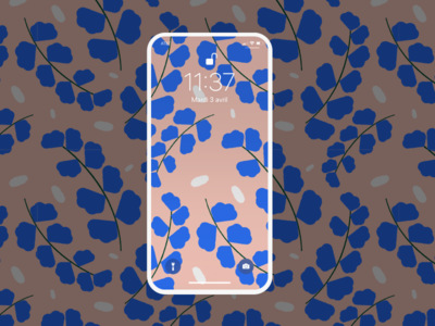 Wallpaper plant pattern illustration pink blue pattern plant wallpaper