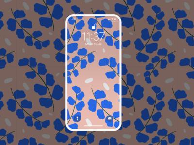 Wallpaper plant pattern illustration pink blue pattern plant wallpaper