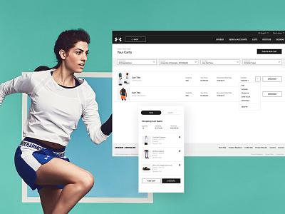 UA store table list sports minimal clean web ui checkout cart shop ecommerce
