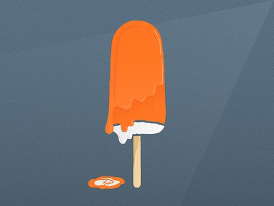Creamsicle treats creamsicle melting illustration vector