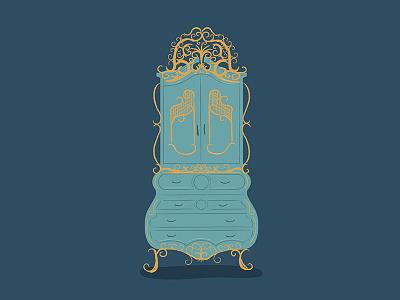 Wardrobe intricate details dresser wardrobe beauty and the beast