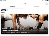 Nike Training Club App Redesign Concept – My Plan
