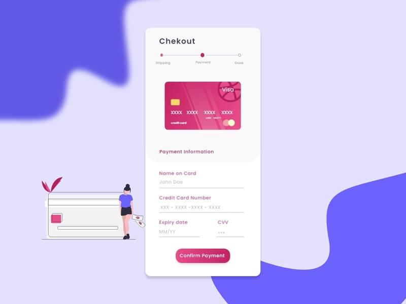 DailyUI002 Credit Card Checkout ui daily ui mobile app screen checkout form checkout page checkout dribbble dailyui002 dailyui