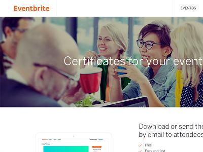 Eventbrite Certificates ux web landing evenbrite