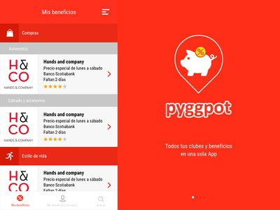 Pyggpot App Design mobile app