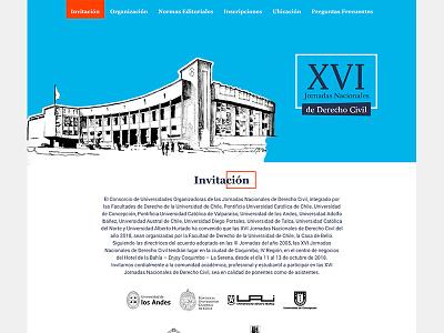 Landing Page Jornadas Derecho Civil web design web landing landing page